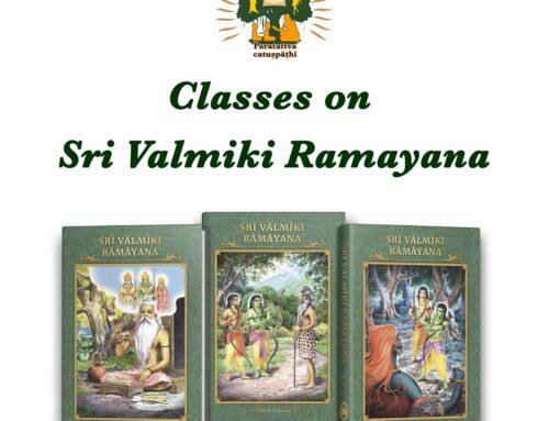 Classes on Sri Valmiki Ramayana