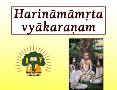 Laghu Harinamamrta vyakaranam